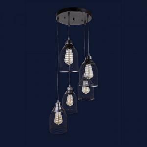 Люстры светильники Levistella 907008F-5 BK (300)