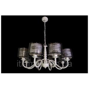 Классическая люстра с абажуром Ls6022/8 White