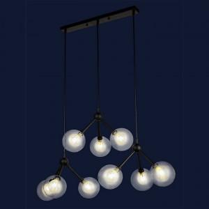 Светильник люстра лофт Levistella 756PR6501-9 BK