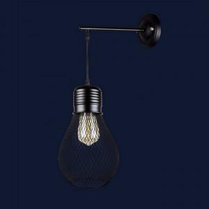 Светильники бра в стиле лофт 907W007F2-1 BK