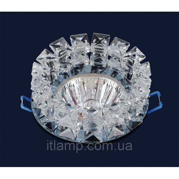Врезной светильник со стеклом 716158