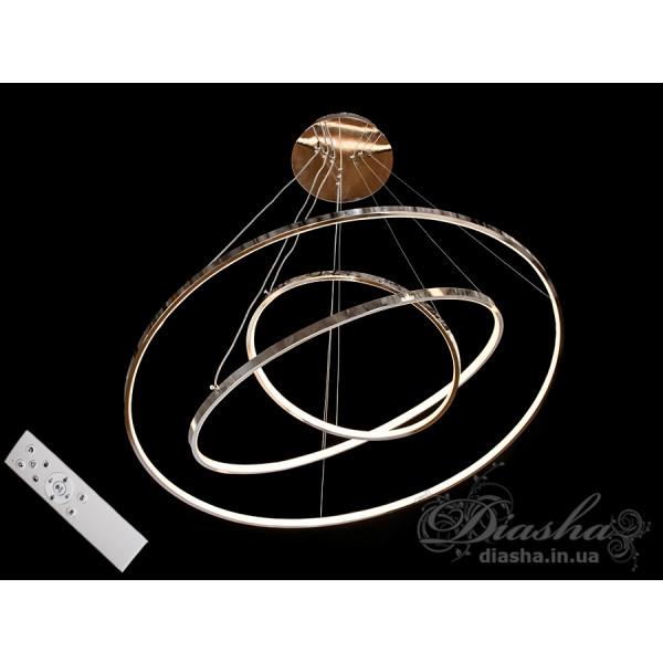 Люстра кольца Diasha MD9079-3HR-800+600+400 dimmer