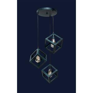 Люстры лофт 756PR160F-3 GX (300)  цвет - оксид меди