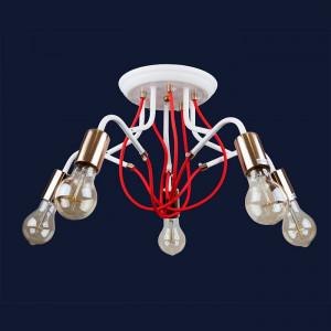 Люстры светильники 768V8075-5 WH-GD
