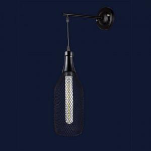 Светильники бра в стиле лофт 907W003F2-1 BK