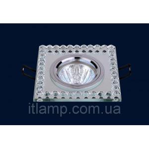 Врезной светильник со стеклом 716036