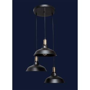 Светильники в стиле лофт 7526857F4-3 BK (300)