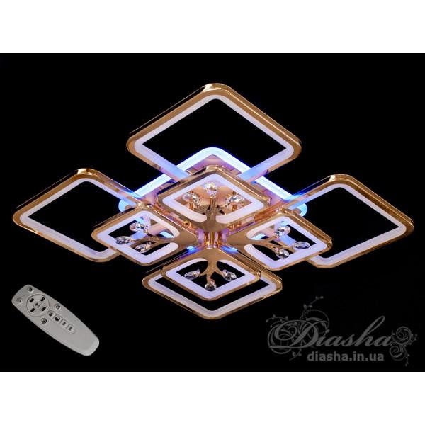 Cветодиодная люстра Diasha 8157/4+4G LED 3color dimmer