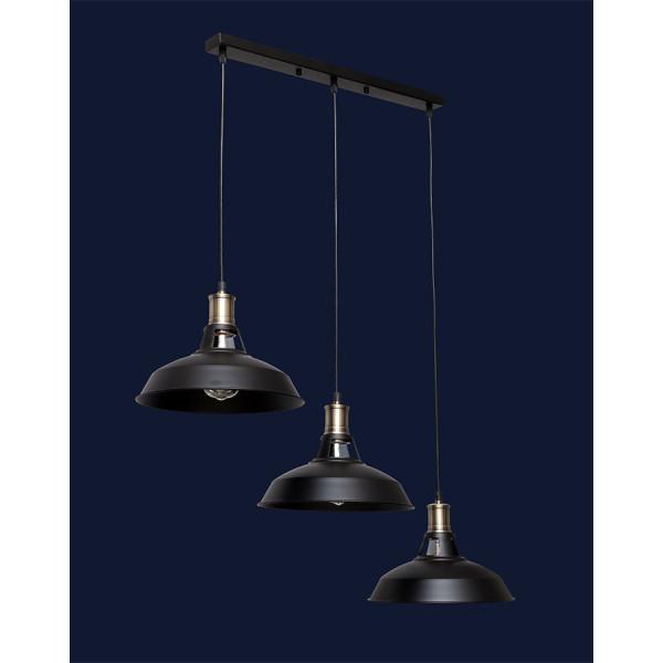 Светильники в стиле лофт Levistella 7526857F4-3 BK (500)