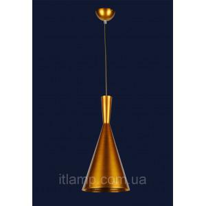 Стильная конусная золотая люстра Levistella 72042001-1 GOLD