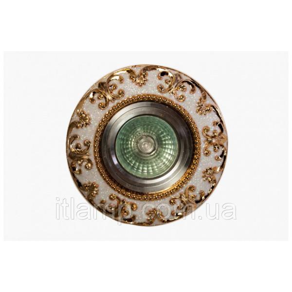 Точечный светильник белого цвета LS 3177 GD