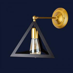 Светильники бра в стиле лофт Levistella 756W220F-1 GD+BK