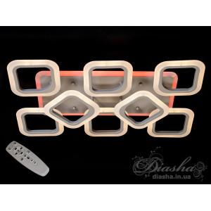 Светодиодная люстра Diasha AS8060/6+2CR LED 3color dimmer