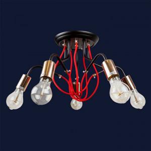 Люстры светильники 768V8075-5 BK-GD