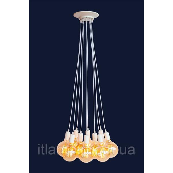 Люстра потолочная на 8 ламп Levistella 7527120-8 BK