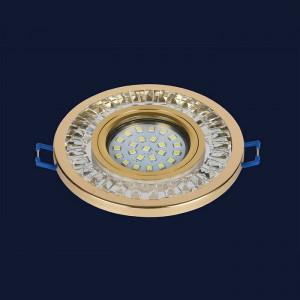 Точечный светильник 716MKD-C20 GD  (LED лента в комплекте)