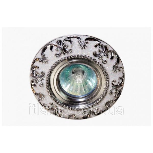 Керамика белый с серебром Linisoln 3177 CR