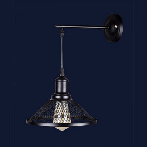 Светильники бра в стиле лофт 907W009F2-1 BK