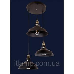 Ретро лофт лампа Levistella 7526857-3 BK